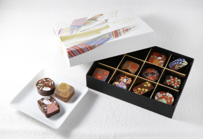 「ショコラ雅」美しい日本の季節・風景をイラストで表現した華やかなショコラ
