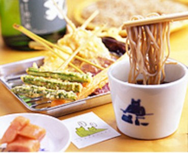 〆にお楽しみいただくのは、国産の蕎麦粉を使用した当店自慢のニ八蕎麦!