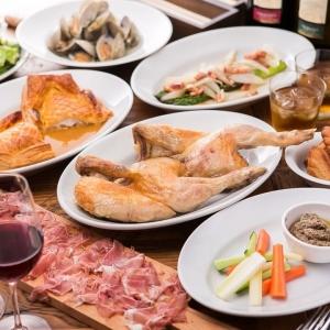 低温でじっくり焼き上げたロティサリーチキンやキッシュなど、フランスの田舎料理メニューが豊富です。