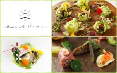 旬に合わせた食材でひと皿を表現。美しい見た目に季節を感じられます