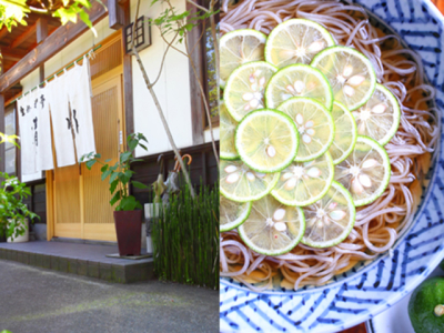 新潟県阿賀野市の田園風景にたたずむ蕎麦店。古民家風な雰囲気ですが、ご予約のお客様も多いです。