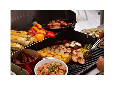 朝食ではめずらしい、BBQスタイルでも提供しています。
