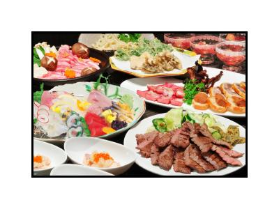 牛タンのほか、宮城の魚介類や旬の野菜を使った料理もあり。