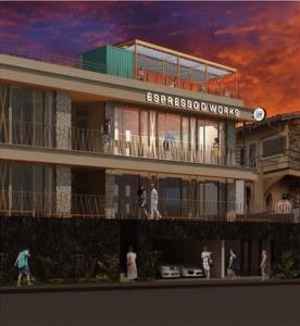 海岸沿いの絶景を楽しめる七里ヶ浜に、新たなランドマークとなるようなカフェが誕生します◎