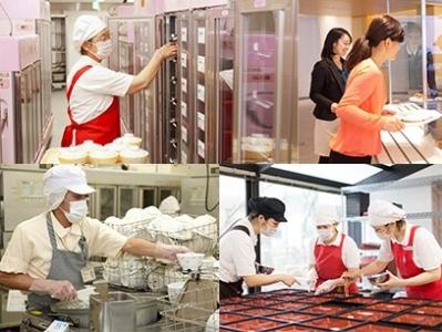 オフィス、病院、スポーツ施設ほか、カフェやコンビニなどで給食提供を行なっている安定企業です。