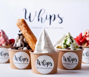 新業態のパティシエ監修、スイーツのようなソフトクリームの専門店『Whips(ホイップス)』