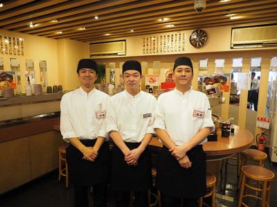 1947年創業。回転寿司のルーツを生み出した老舗企業で店舗スタッフの募集です。
