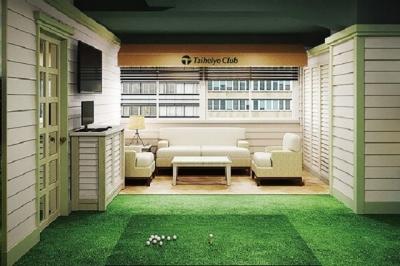 レストランと合わせて、ゴルフショップやシミュレーションゴルフ、ラウンジなどが併設