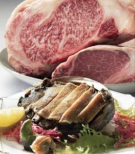 厳選した高級肉、アワビなどの海の幸を鉄板焼きのスタイルで提供しています◎
