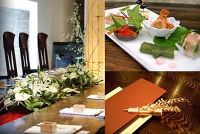 ウェディングやパーティーもあり、華やかなお料理も手がけられます