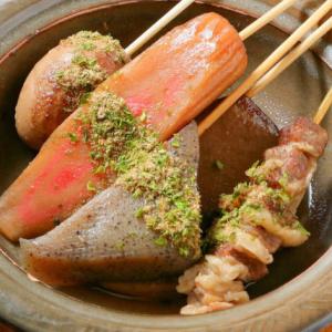 静岡おでん、黒はんぺんフライなど、地元料理を楽しめます。