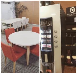 ミーティングルームには、コーヒサーバーを完備。便利で快適なオフィス空間になっています。