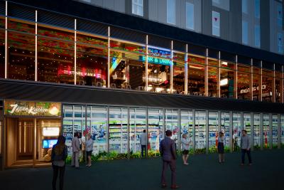 秋葉原にできるホテル内の産直フードホールには、新業態4店舗を展開予定です。