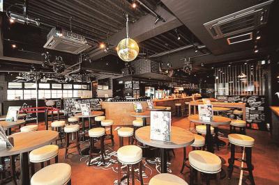 広大な敷地で『エンターテインメント(レストラン、クラブ、スポーツバー)』を併設した複合施設