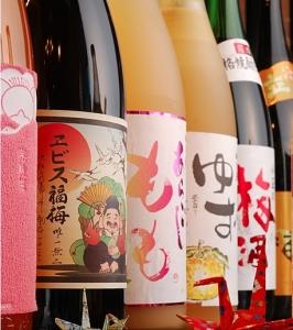 日本酒をメインに、豊富な数のお酒を取り揃えています。